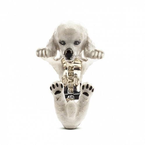 Dog Fever Enamel Poodle Ring
