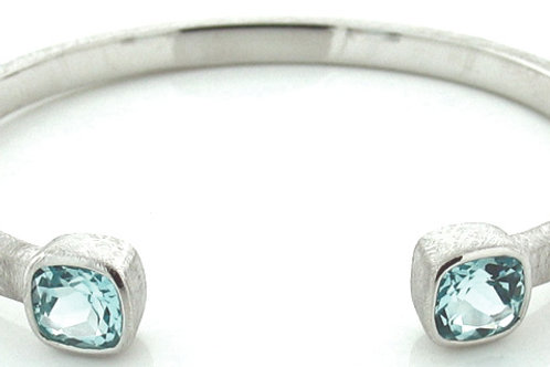 Blue Topaz Small Cuff Bracelet