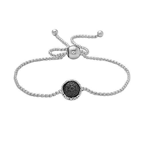 Charles Krypell Ivy Black Sapphire Bolo Bracelet