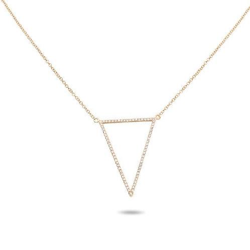 Roman & Jules Diamond Open Triangle Necklace