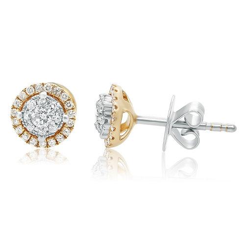 Roman & Jules Round Shaped Diamond Cluster Earrings