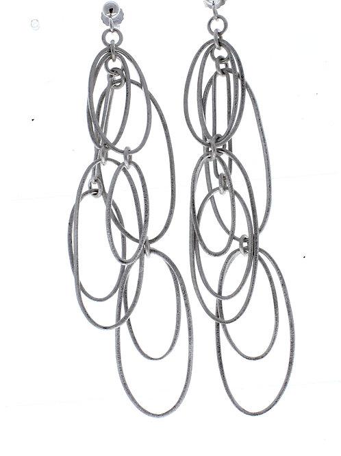 Long Oval Link Dangle Earrings