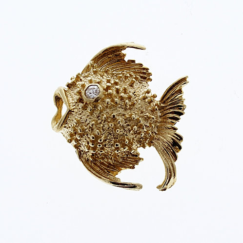 Diamond Fish Pin
