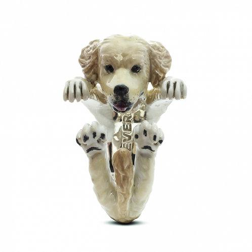 Dog Fever Enamel Golden Retriever Ring