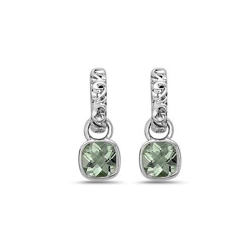 Charles Krypell Ivy Green Amethyst Dangle Earrings