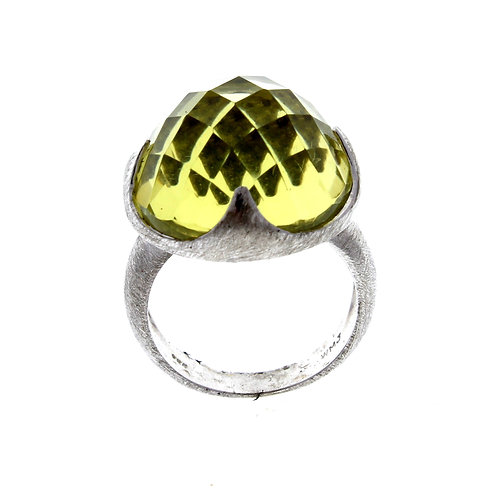 Dome Lemon Quartz Ring