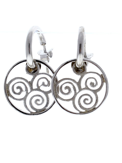 Scroll Dangle Earrings