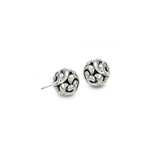 Charles Krypell Ivy Ball Stud Earrings