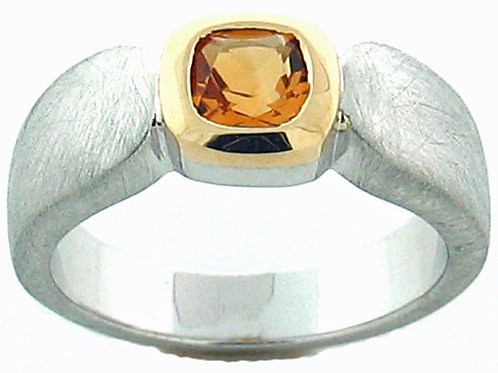 Citrine Two Tone Tapered Band