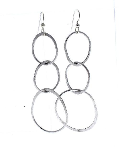 Three Oval Dangle Earrings