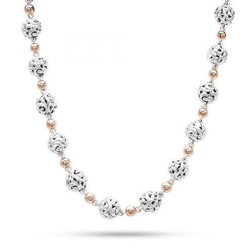 Charles Krypell Ivy Two Tone Bead Necklace