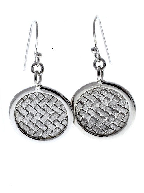 Weaved Circle Dangle Earrings