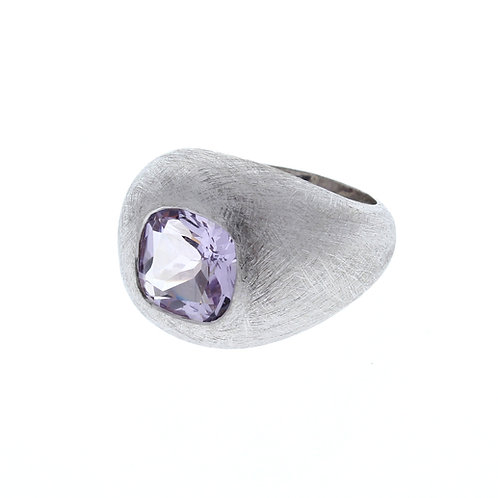 Pink Amethyst Dome Ring