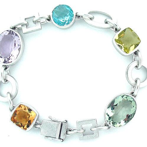 Multi-Stone Link Bracelet