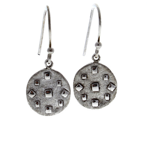SMALL ROUND DANGLE EARRINGS