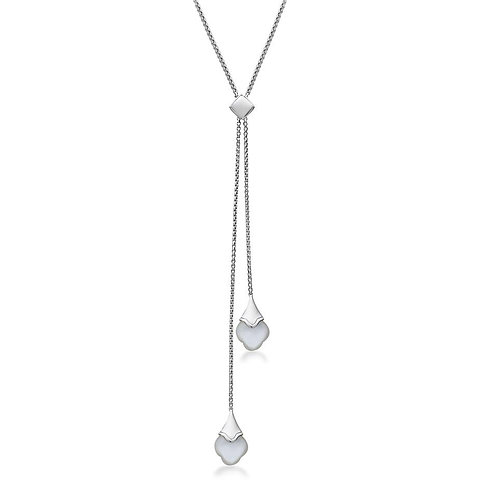 Charles Krypell Mother of Pearl Lariat Necklace