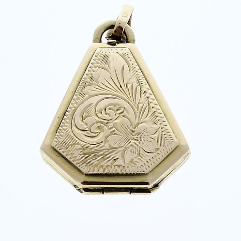 Flower Engraved English Locket