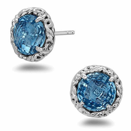 Charles Krypell Ivy Blue Topaz Stud Earrings