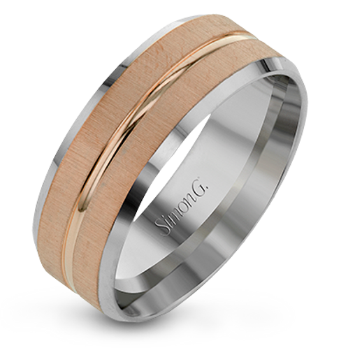 Simon G 14KT Brushed Finish Band