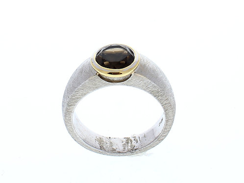 Smoky Quartz Bezel Set Ring