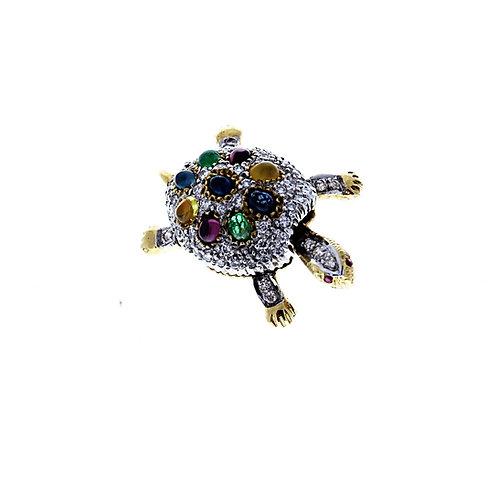 Turtle Brooch or Pendant
