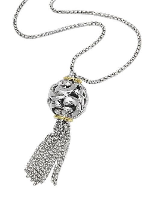 Charles Krypell Ivy Tassel Necklace