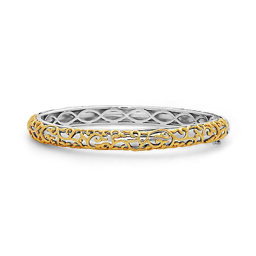 Charles Krypell Ivy Lace Yellow Hinged Bracelet