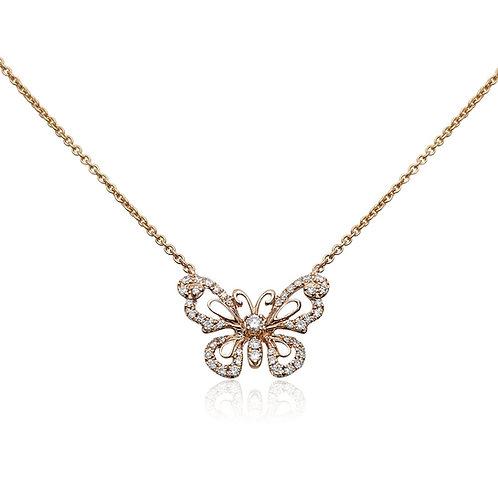 Roman & Jules Diamond Butterfly Necklace