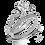 Thumbnail: Simon G Diamond Miligrain Semi-Mount Wedding Set