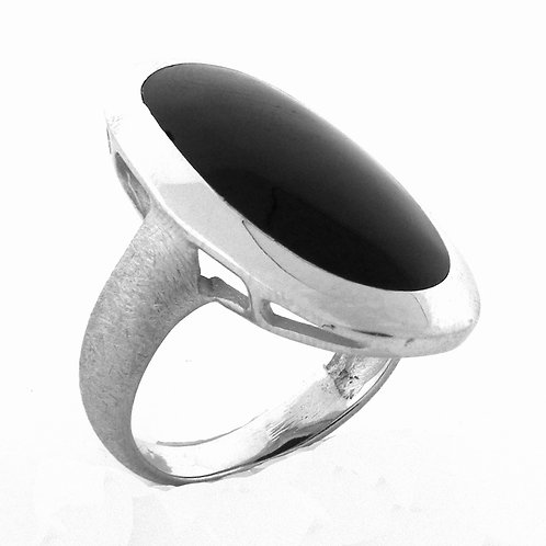 Cabochon Black Onyx Ring