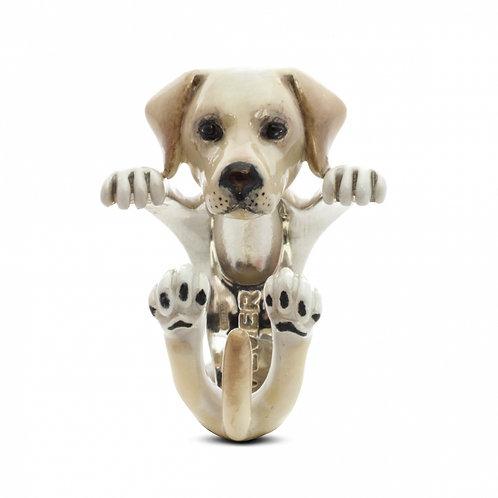 Dog Fever Enamel Labrador Ring