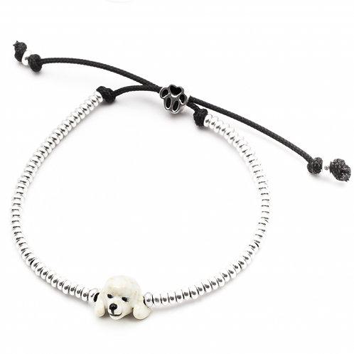 Dog Fever Enamel Poodle Head Bracelet
