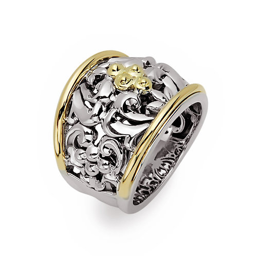 Charles Krypell Two Tone Ivy Ring