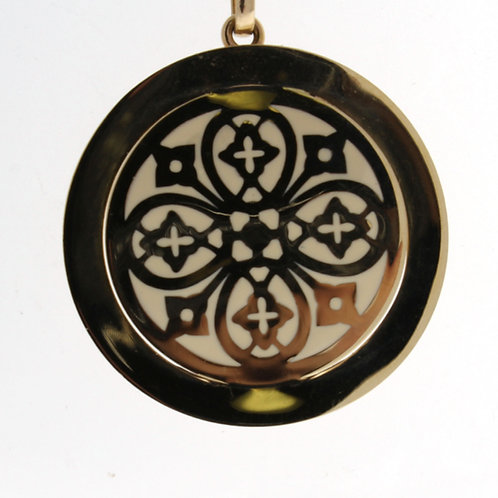 Enamel and Gold Medallion Necklace