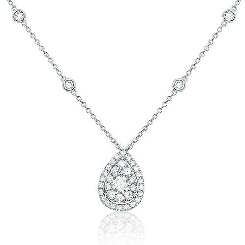 Roman & Jules Pear Cluster Diamond Necklace