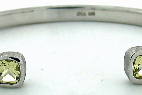 Lemon Quartz Small Cuff Bracelet