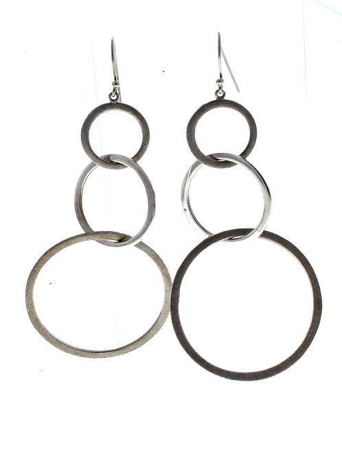Three Circle Dangle Earrings