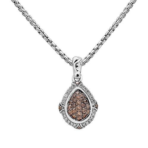 Charles Krypell Ivy Brown Diamond Cluster Necklace