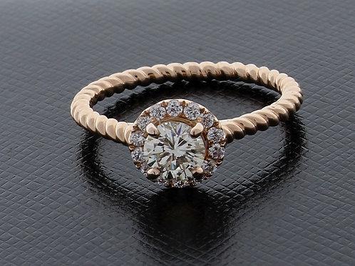 Diamond Halo Style Engagement Ring
