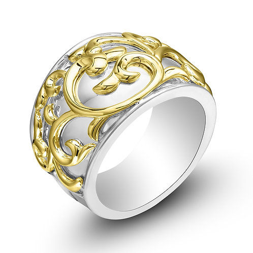 Charles Krypell Ivy Lace Yellow Wide Ring