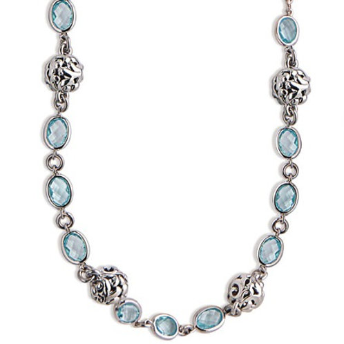 Charles Krypell Ivy Bead and Blue Topaz Necklace