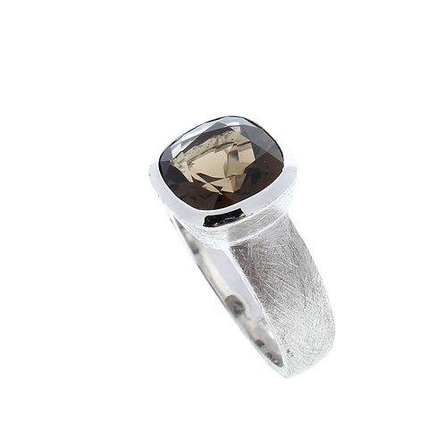 Cushion Cut Smoky Quartz Ring