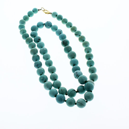 English 11-12mm Turquoise Beaded Necklace