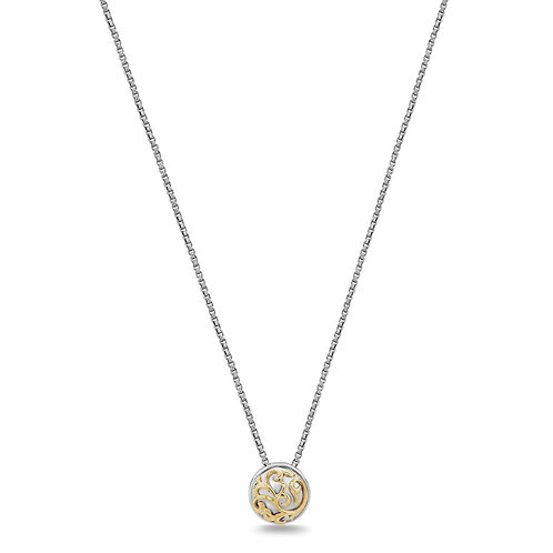 Charles Krypell Ivy Lace Yellow Button Necklace