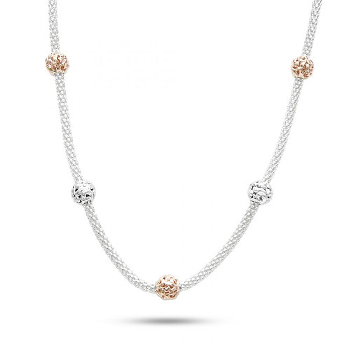 Charles Krypell Ivy Two Tone Station Necklace