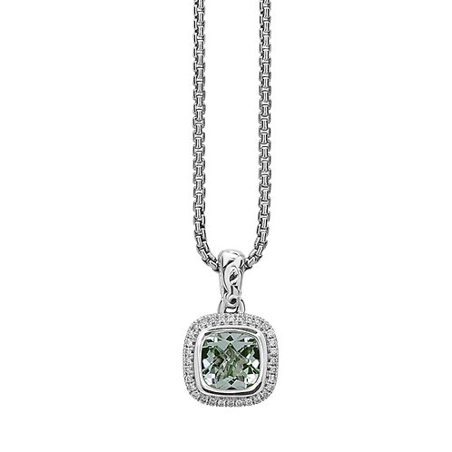 Charles Krypell Ivy Square Green Amethyst Necklace