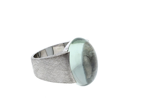 Green Amethyst Cabochon Ring