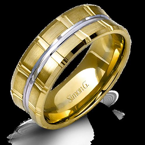 Simon G 14KT Gold Concave Band