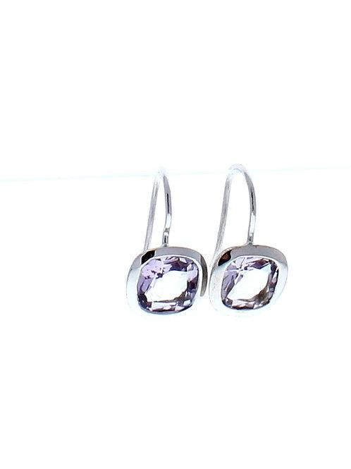 Pink Amethyst Drop Earrings