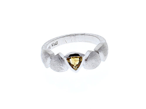 Citrine Trillion Bezel Band
